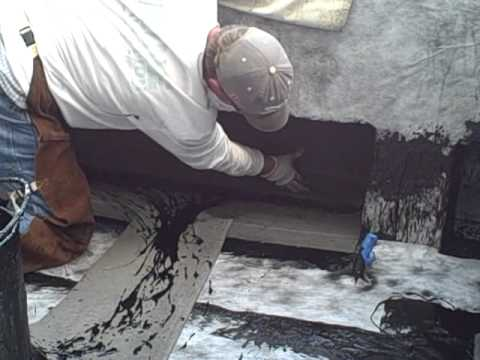 Waterproofing Installtion Hot Applied Youtube