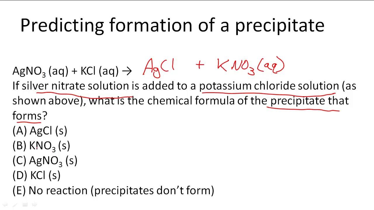 worksheet Precipitation Reactions Worksheet predicting formation of a precipitate youtube