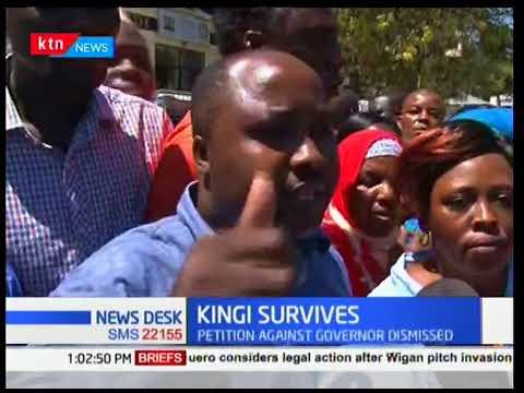 Petition against re-election of Kilifi governor Amason Kingi dismissed.