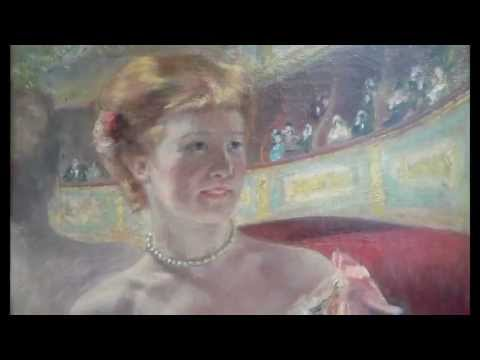 Cassatt, Woman with a Pearl Necklace in a Loge