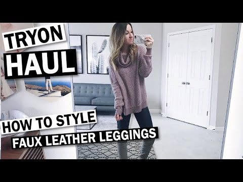 Try On Haul: 6 Outfit Ideas with SPANX Faux Leather Leggings