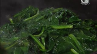 Жареный шпинат