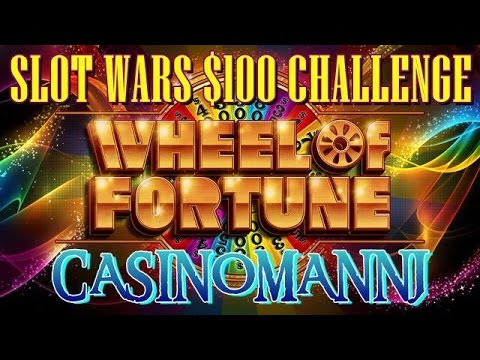 SLOT WARS $100 CHALLENGE - WHEEL OF FORTUNE (IGT) Slot Machine - 동영상
