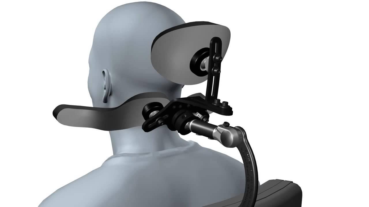 Whitmyer Dual Sub occipital Headrest with LINX Hardware Adjustment Animation