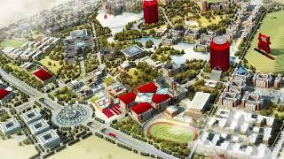 Визуализация города, завода Coca-Cola