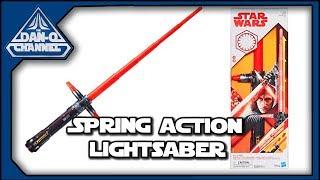 Star Wars Kylo Ren Spring-Action Lightsaber | Force Action Lightsaber toy review