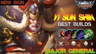 Mobile Legends - New Yi Sun Shin Major General Skin Best Builds and Gameplay [MVP]