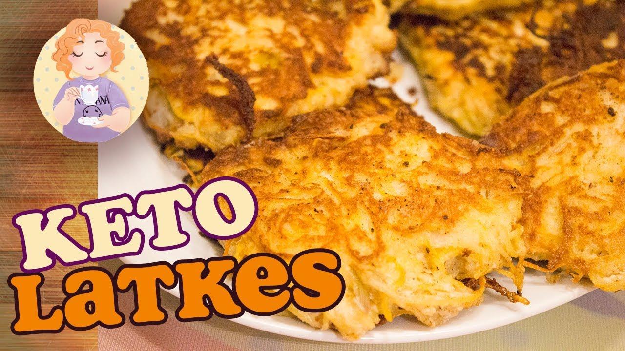 Keto Latkes Recipe How To Make Low Carb Latkes No Potato Pancake Without Cauliflower