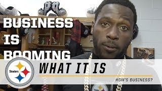 Steelers Antonio Brown asks teammates how business is going | What It Is