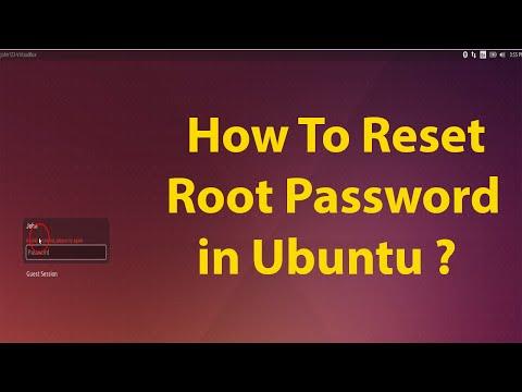 How To Reset Root Password In Ubuntu 15.10,15.04,14.04,12.04 LTS ?