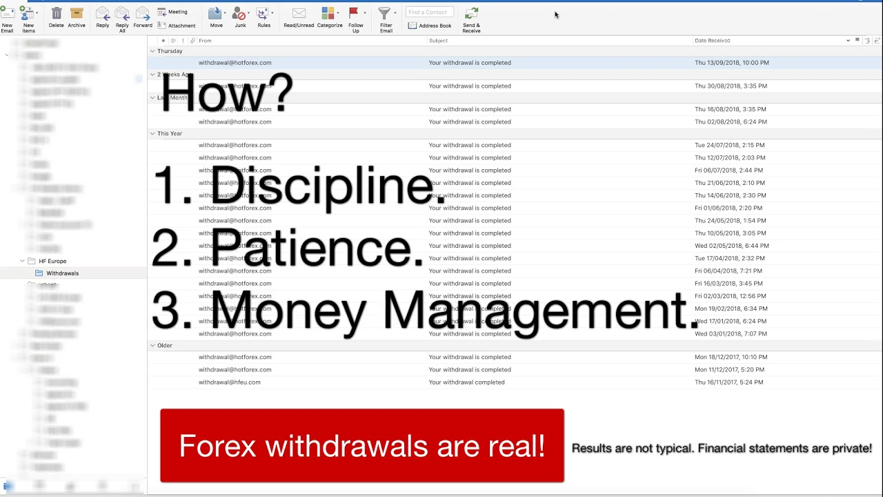 Forex withdrawal