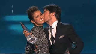 nina dobrev ian somerhalder kiss address breakup people s choice awards 2014