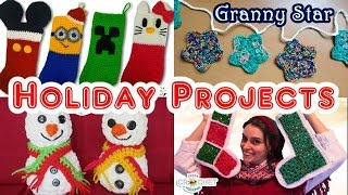 Vlog Christmas Winter Gift IdeasHome Decor Projects Crochet