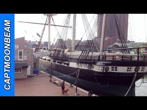 USS Constellation at Baltimore Inner Harbor GoPro