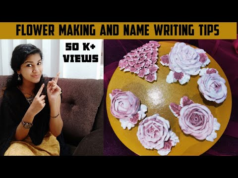Flowers Making and Name Writing Video|Tips for Name Writing|Different Methods of flower Making