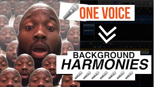 HOW TO MAKE BACKGROUND HARMONIES FROM ONE LEAD VOICE   AFROBEAT TUTORIAL   LOGIC PRO X MIXING TRICK