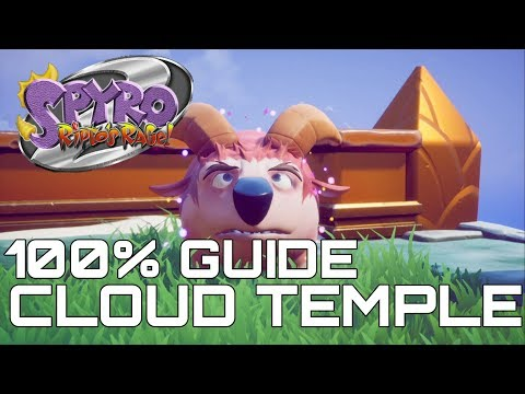 Spyro 2 Ripto's Rage (Reignited) 100% Guide CLOUD TEMPLE (ALL GEM, ORBS...)