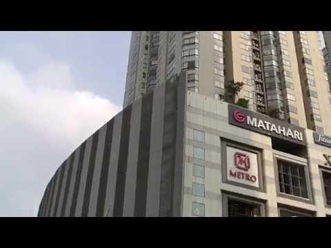 Central Park and Taman Anggrek shopping malls Jakarta