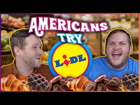 AMERICANS TRY | LIDL GROCERY STORE | FIRST REACTION!!!