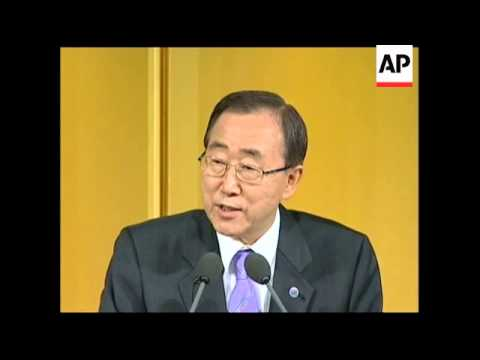 UN chief on Darfur, Middle East and climate change