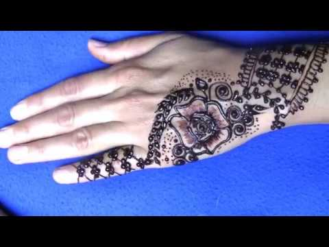 Mehndi Bunch On Arm : How to make little finger side bunch flower mehndi design with