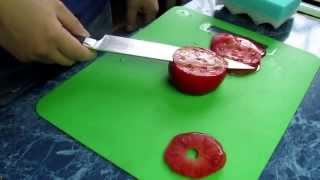 тест самодельного кухонного ножа из стали 95Х18