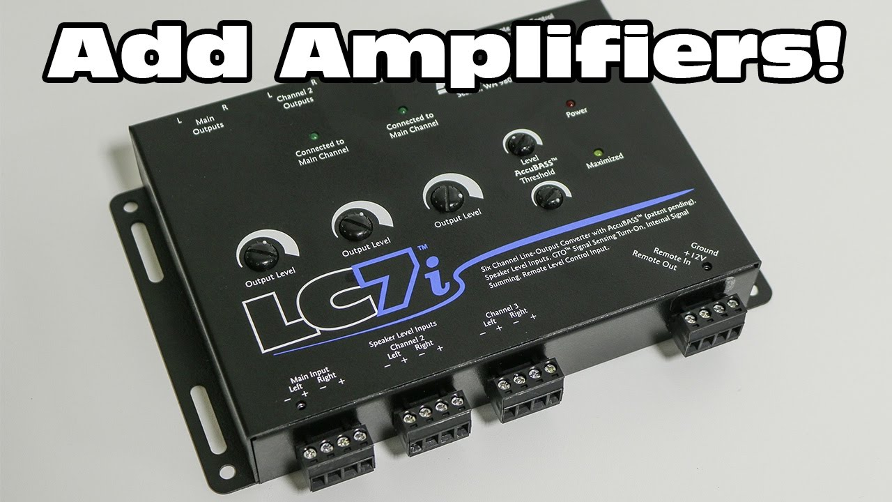 Add Amplifiers To A Factory Audio System Audiocontrol Lc7i Line 4 Ohm Subwoofer Wiring Diagram Youtube Premium