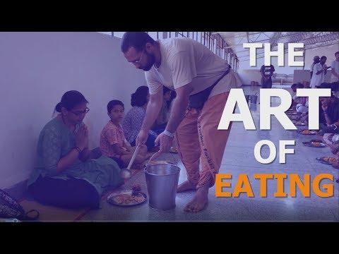 The art of eating - Biksha hall | Isha yoga center