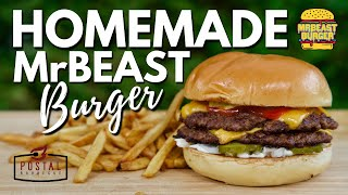 HOMEMADE MrBeast Burger Recipe - How to make a Mr Beast Burger at home EASY