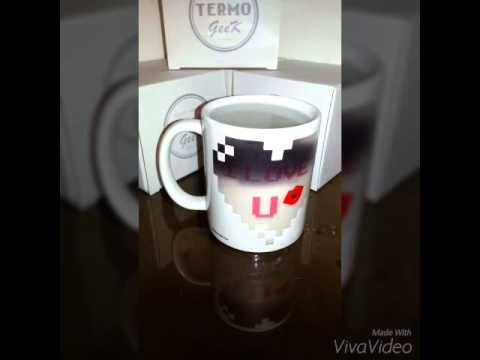 Taza magica I LOVE U magic mug