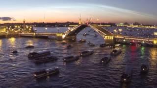 Санкт-Петербург, белые ночи, разведение мостов - съемка с квадрокоптера(, 2014-06-24T05:03:02.000Z)