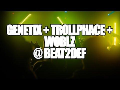 Genetix + Trollphace + Woblz - live @...