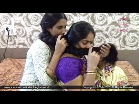 Passionate Braid Smelling By Deepa & Ganga | Two Rapunzel Tangled in Each Other Braid & Smelling it.