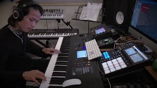 Yamaha MODX8 Acoustic Guitar & Piano sound test.