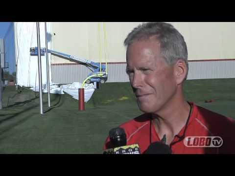 2012 Lobo Football   Coach Bob Davie Post-Practice Press Conference