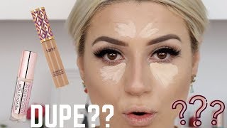 NEW MAKEUP REVOLUTION CONCEALER VS TARTE || DUPE??? || GIO DREVELI