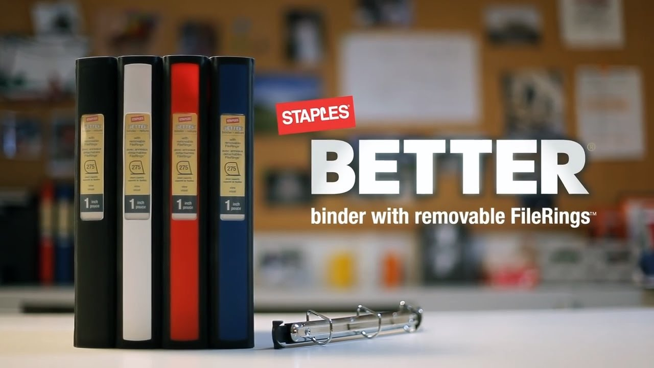 stay organized with staples better binders youtube