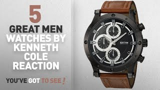 Top 10 Kenneth Cole Reaction Men Watches [ Winter 2018 ]: Kenneth Cole REACTION Men's Quartz Metal