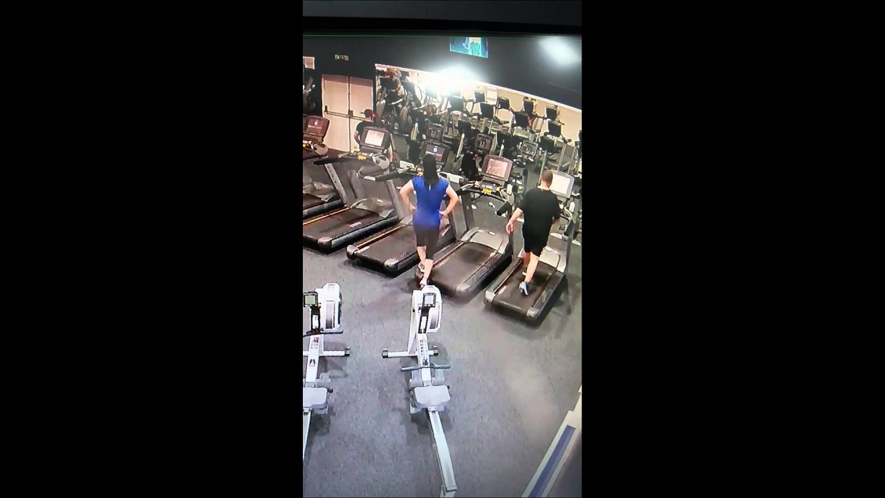Woman Falls Off Treadmill - YouTube