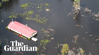 Parts of North Carolina submerged after Hurricane Florence – aerial video