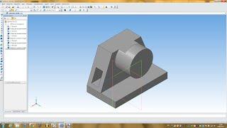 Компас 3D уроки  - пример построения простой детали № 2