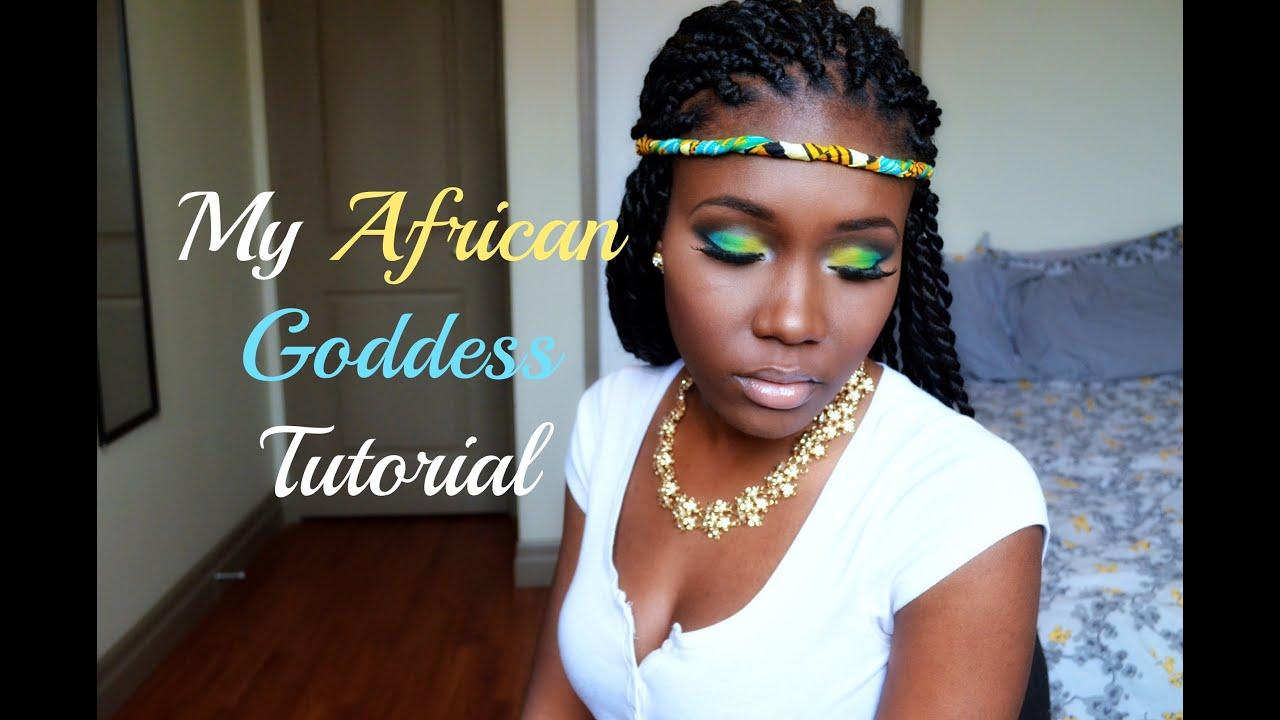 African makeup african hair african goddess african style african - Makeup Kente Ankara African Goddess Tutorial W My Maxi Kente Skirt