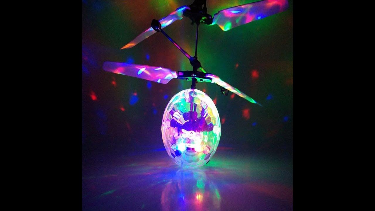 suche nach neuestem Farbbrillanz auf Füßen Aufnahmen von RC Flying Disco Ball - Rc fliegender Ball mit Sensorsteuerung und LED  Discolichter