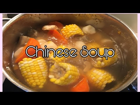 Vegetarian Soup/Corn,Chestnuts,Burdock,Chinese Yam and Carrot//Chinese Summer Soup