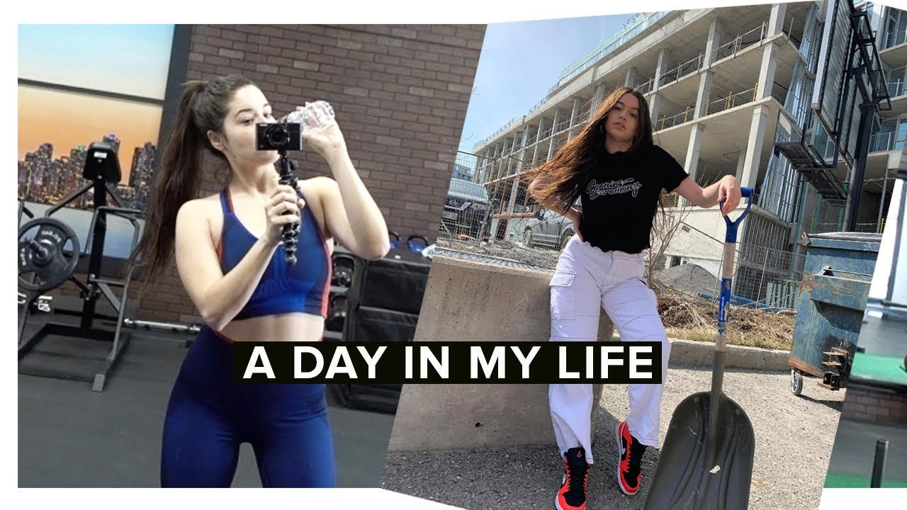 FOLLOW ME FOR THE DAY | WORKOUT. MEETINGS. ARIANA GRANDE CONCERT - YouTube