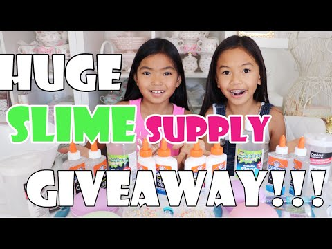 HUGE SLIME SUPPLY GIVEAWAY! *CLOSE *Winners will be announced soon