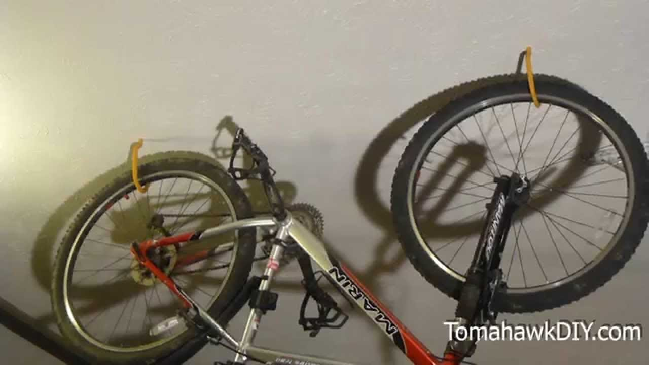 Organize Garage How To Hang Bikes From The Ceiling Youtube
