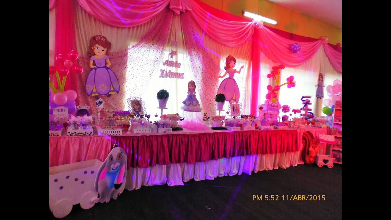 decoracion de la princesita sofia  YouTube