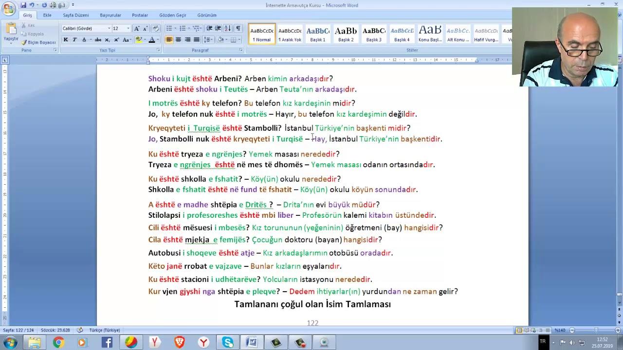 """Arnavutça Ders 20/2 """" İsim Tamlaması (İsmin -in hali) - Rasa Gjinore"""""""