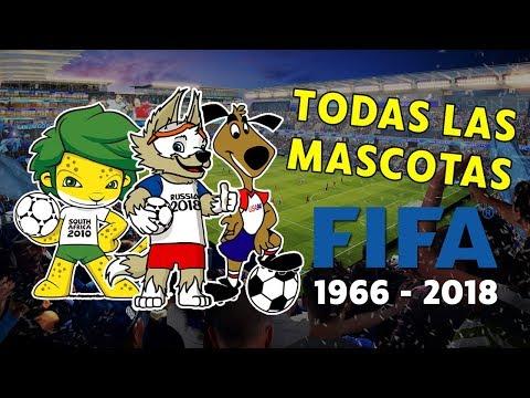 LAS MASCOTAS DE TODOS LOS MUNDIALES DE FÚTBOL (1966 - 2018)